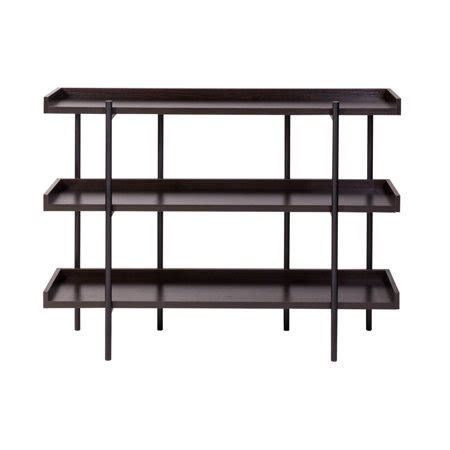 Espresso Etagere by Onespace Modern Etagere Wood And Steel 3 Shelf Display