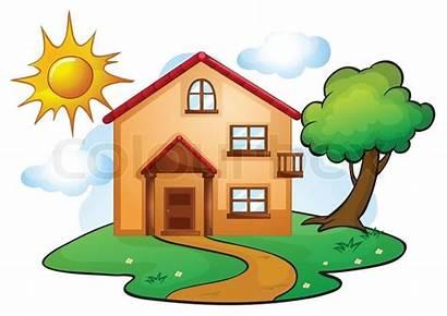 Clipart Haus Garten Huis Hus Kindergarten Cartoon