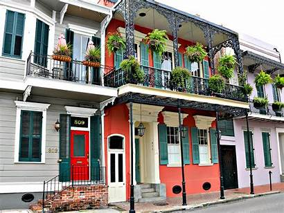 Quarter French Orleans Creole Townhomes Architecture Homes