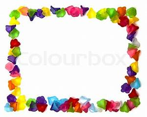 Frame of colorful beads Stock Photo Colourbox