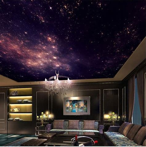 star nebula ceiling wallpaper night sky stars galaxy