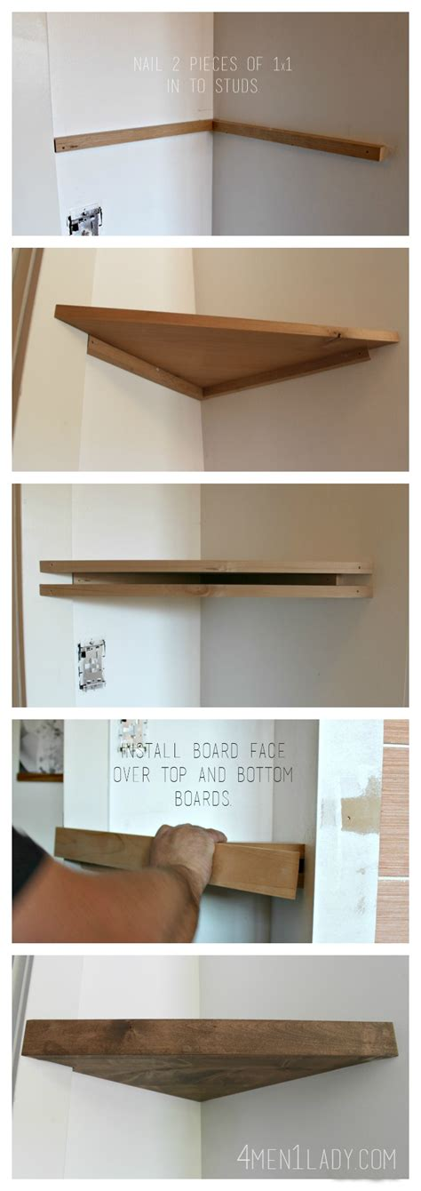 how to build a wall bookcase step by step when life gives you lemons make corner floating shelves