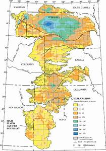 Saturated Thickness Of The High Plains Aquifer  2000