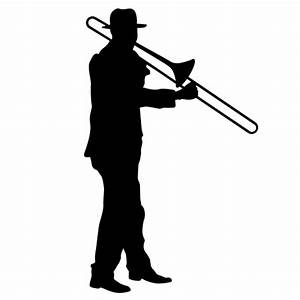 Trombone Player SILHOUETTES (Wall Decor) Trombone Player ...