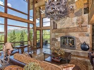kitchen range backsplash log and colorado ski chalet with great room