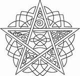 Pentagram Coloring Pages Pagan Embroidery Pentacle Urban Designs Mandala Elements Wiccan Adult Urbanthreads Five Celtic Unique Patterns Colouring Tattoos Template sketch template