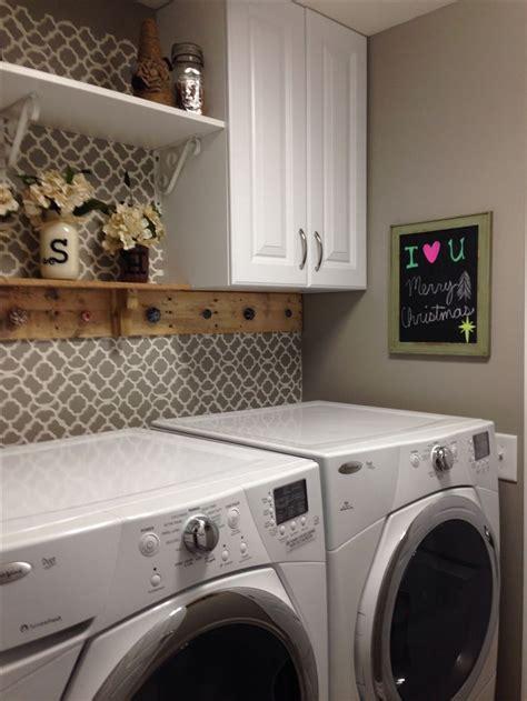 laundry room setup ideas  add small shelf