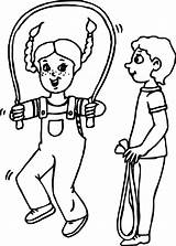 Coloring Rope Jump Jumping Wecoloringpage Adults Popular sketch template