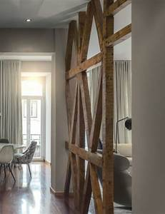 Separation Piece En Bois : separation salon poutre bois picslovin ~ Teatrodelosmanantiales.com Idées de Décoration