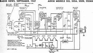 Arvin Models 555  555a  552n  552an  September 1947 Radio