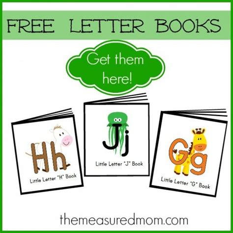 free printable letter books 990 | Free letter books get them here the measured mom 590x590