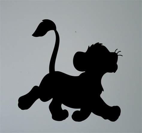 buy simba lion king silhouette wall vinyl