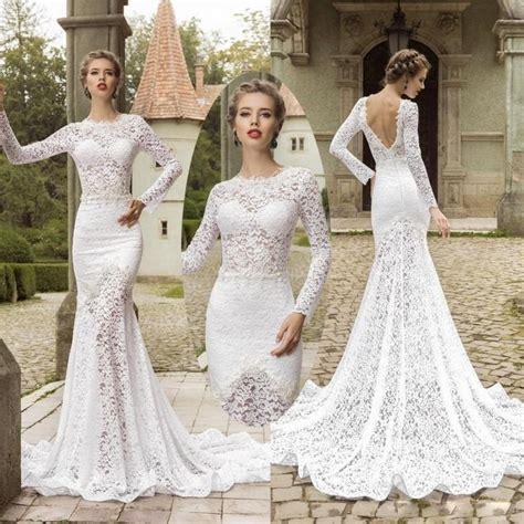 backless wedding dress lace amazing sleeve lace mermaid wedding dresses backless