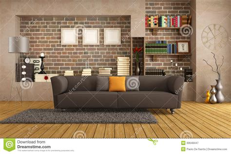 modern couch   vintage living room royalty  stock