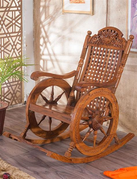 buy solid wood retro wheel rocking sofa chair