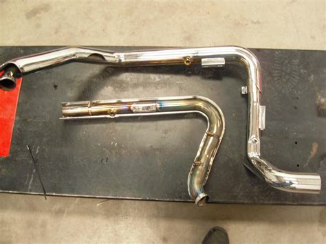 Vance And Hines Dresser Duals Heat Shields by Fs 2010 Vance Hines Dresser Dual Headers Harley