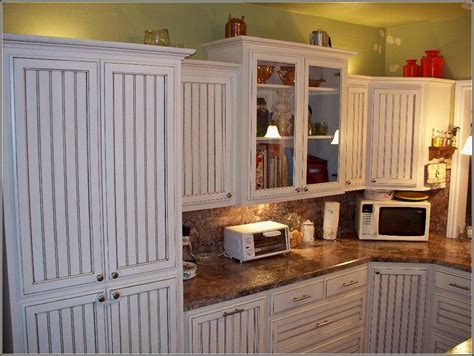 2875 s congress ave, suite h, delray beach, fl 33445 White Beadboard Kitchen Cabinet Doors Combined With Marble ...