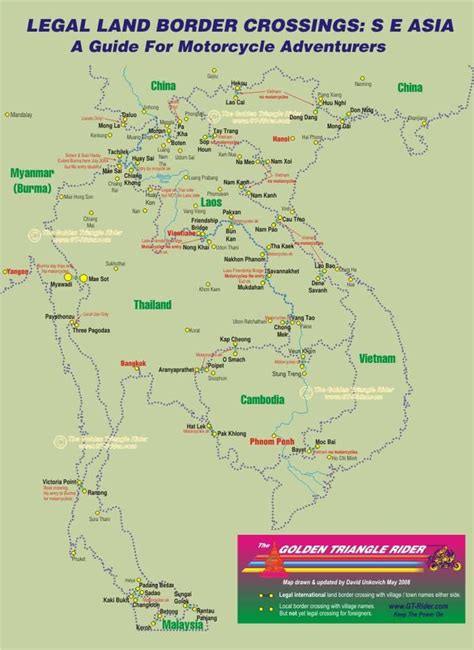 thailand laos cambodia myanmar border crossings