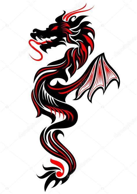 Tatuaje Dragon Tribal €� Vector De Stock © Surovtseva #84131372