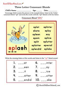 letter blends beginning consonant blends aussie