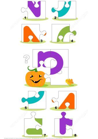 letter p   pumpkin puzzle  printable puzzle games