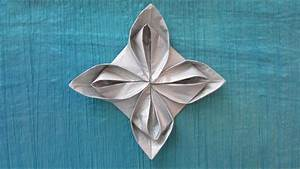 Fleur En Origami Facile : origami facile fleur en serviette ~ Farleysfitness.com Idées de Décoration