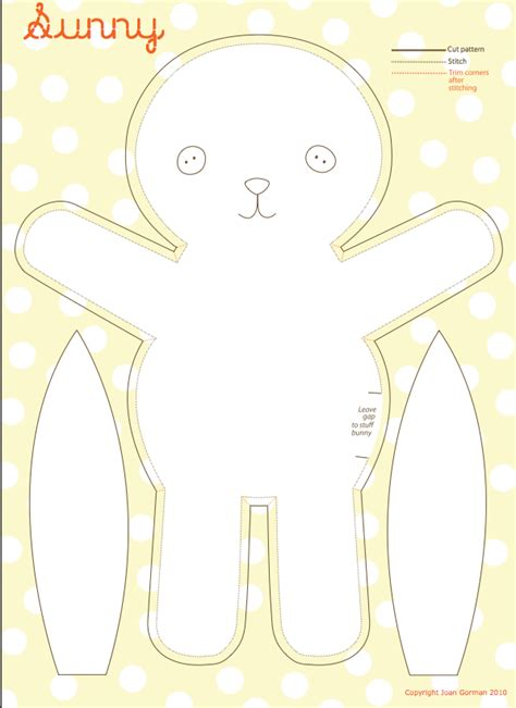 Bunny Template For Sewing by Sewing On Sewing Tutorials Sew And Sewing