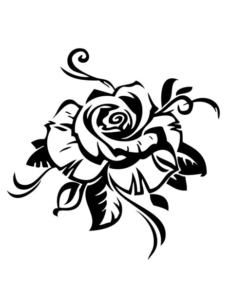 rose design coloring page   coloring pages