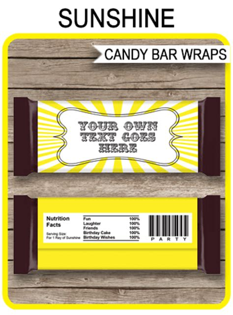 sunshine hershey candy bar wrappers personalized candy bars