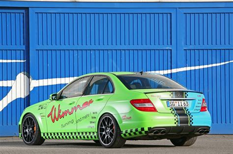 blue green mercedes benz  amg  wimmer rs car tuning