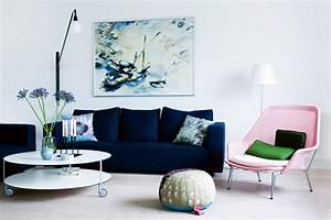 Canapé Bleu Marine : canap bleu les meilleurs mod les pour habiller votre salon ~ Teatrodelosmanantiales.com Idées de Décoration