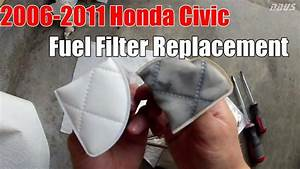 8thgen Honda Civic Fuel Filter Strainer Replacement Diy