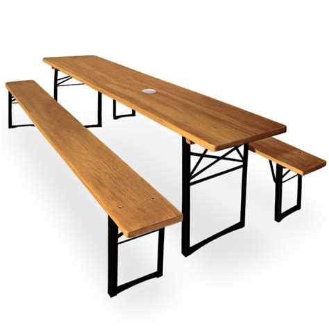 folding table and bench set folding trestle table and benches set with parasol hole