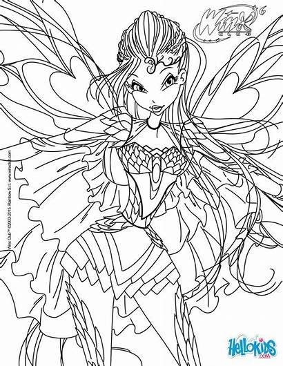 Bloom Bloomix Transformation Coloring Hellokids Pages Winx