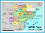 Map of Detroit Michigan - TravelsMaps.Com