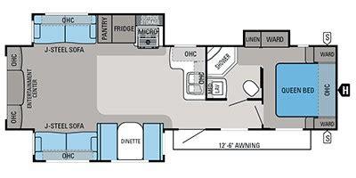 2013 Jayco Fifth Wheel Floor Plans by 2013 Jayco Eagle 328 Rlts Floorplan Prices Values
