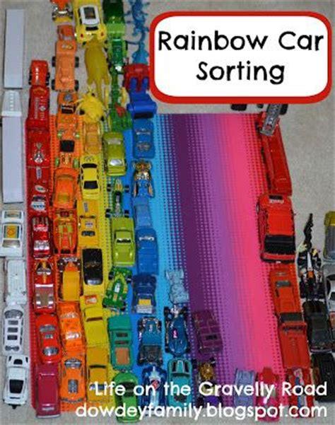 rainbow car sorting activity on the gravelly road 303   f29a77cddd2e85cce93fd9edd8d548ed