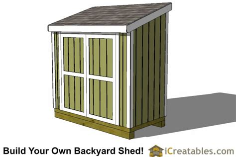 4x8 Storage Shed Plans by 4x8 Lean To Shed Plans Storage Shed Plans Icreatables