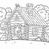 Coloring Cabin Woods Pages Surfnetkids sketch template
