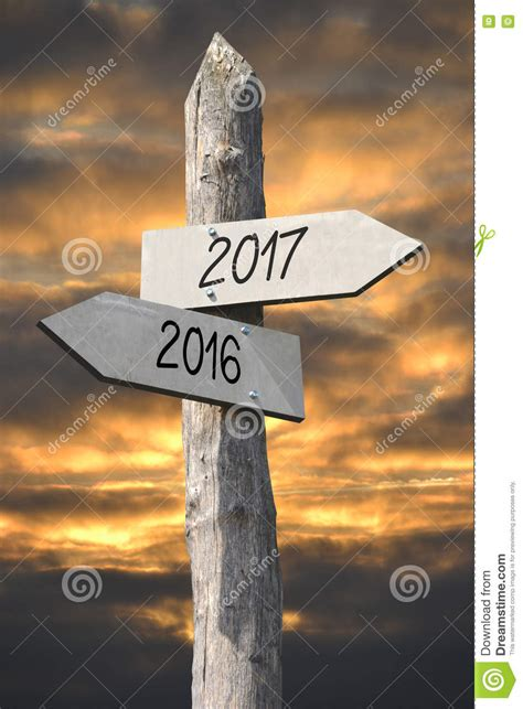 2016 and 2017 concept stock image Image of arrows