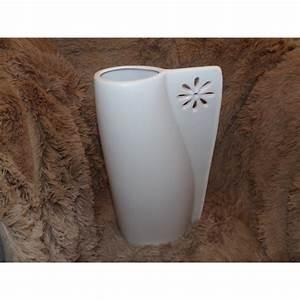 Grand Vase Blanc : grand vase blanc c ramique mat mod le empreinte amadeus vase pratique ~ Preciouscoupons.com Idées de Décoration