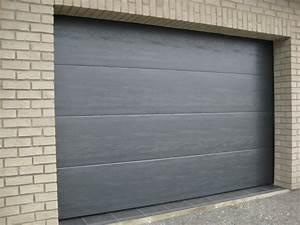 porte grise lisse smf services With porte garage grise