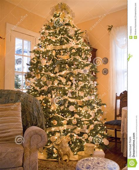 Cozy Christmas Tree Royalty Free Stock Images Image