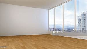 Empty Room White Wall Wooden Floor 3d Illustration Stock ...
