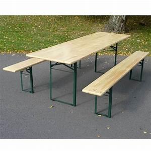 Table Et Banc En Bois : banc brasserie en bois 4 5 personnes table non comprise ~ Melissatoandfro.com Idées de Décoration
