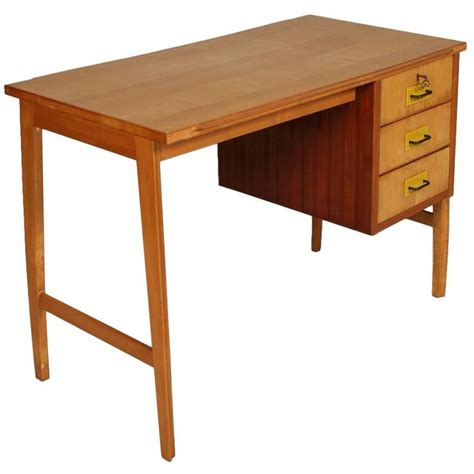 mid century desk with drawers mid century modern desk solid beech maple and mahogany