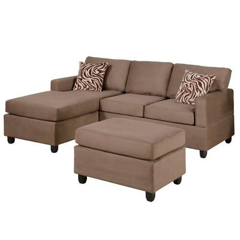 purchase poundex bobkona 3 piece microfiber sectional sofa