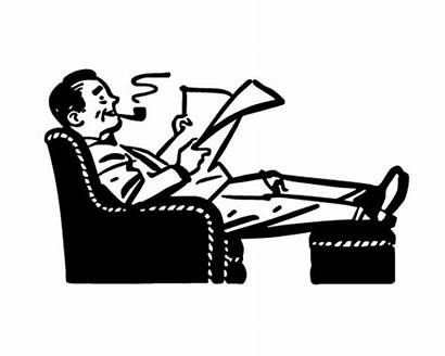 Clipart Chair Comfortable Relaxing Easy Retro Illustration