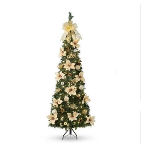 pull up christmas tree with lights sale 6 39 pre lit lighted decorated artificial corner pull