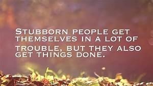 Stubborn People Quotes | Quote Addicts